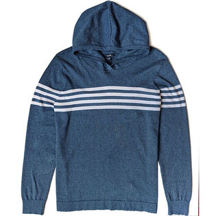 Men's Stripe Hooded Top