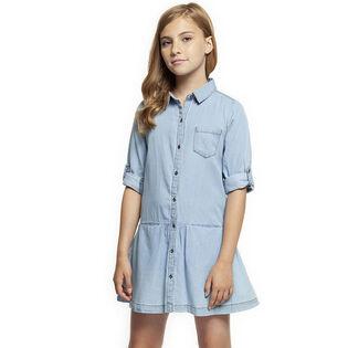 Junior Girls' [7-14] Pleated Shirt Dress