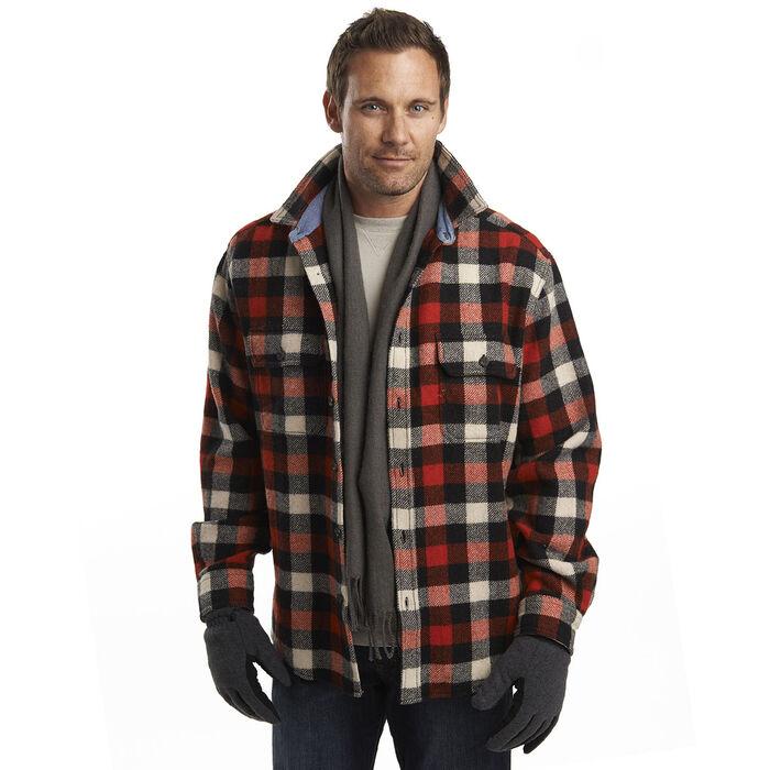 Men's Wool Buffalo Plaid Shirt