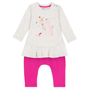 Baby Girls' [6-24M] Unicorn Tunic + Pant Two-Piece Set