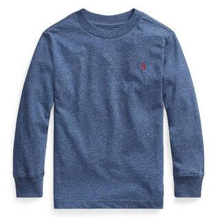 Chandail à manches longues en jersey de coton pour garçons [5-7]
