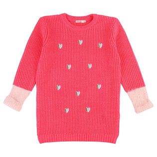 Girls' [3-8] Heart Knit Dress