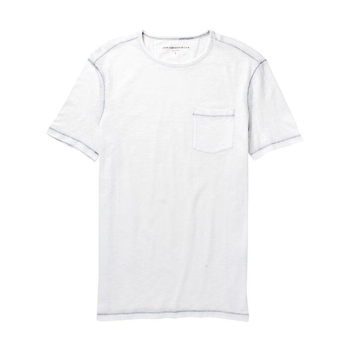 T-shirt en coton flammé pour hommes