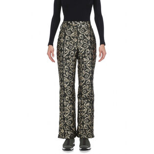 Women's Gold Brocade Pant