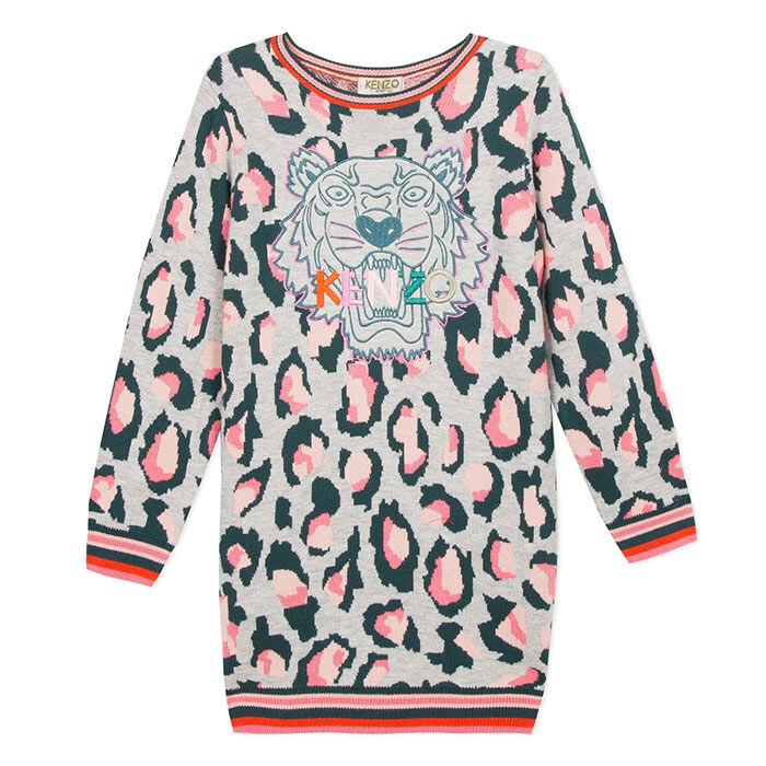 Robe chandail en tricot jaspé pour filles juniors [8-14]