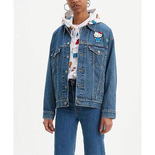 Women's Hello Kitty Dad Trucker Jacket