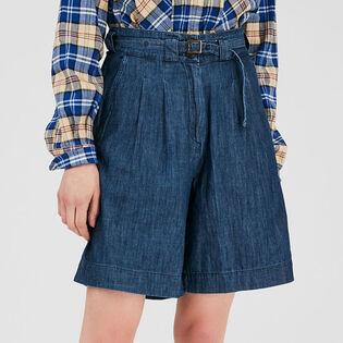 Short en chambray couleur denim pour femmes