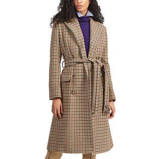 Women's Wool-Blend Houndstooth Coat