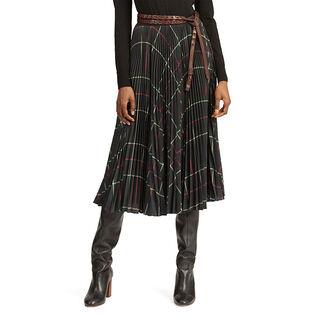 Women's Pleated Georgette Skirt