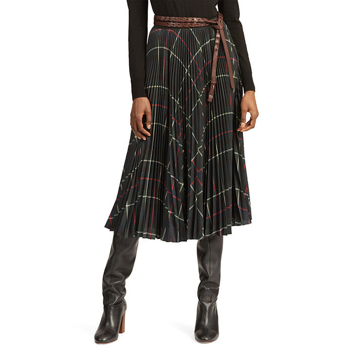 Women's Pleated Georgette Skirt