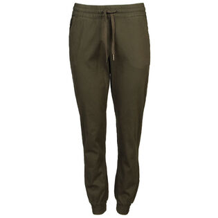 Women's Solid Twill Jogger Pant
