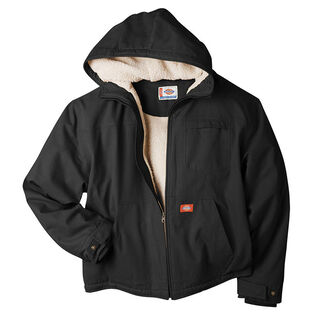 Men's Duck Sherpa-Lined Hooded Jacket