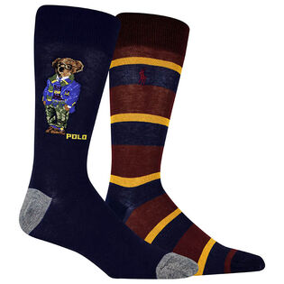 Men's Bear Quad Crew Sock (2 Pack)