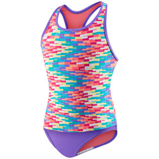 Junior Girls' [7-16] Zig Zag Crossback Two-Piece Tankini
