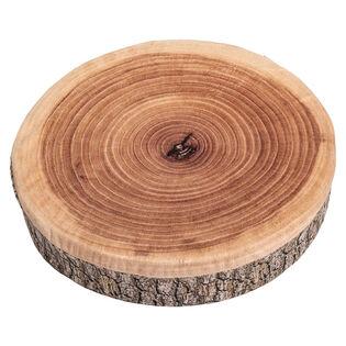 Coussin tranche d'arbre