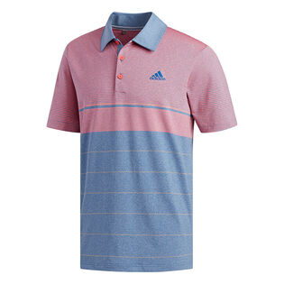 Polo chiné à rayures Ultimate365 pour hommes