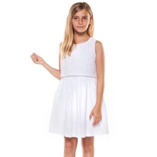 Junior Girls' [7-14] Embroidered Eyelet Dress