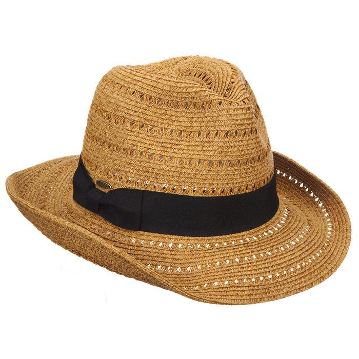 Women's Paper Braid Ribbon Hat