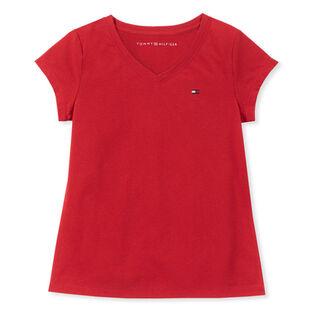 Junior Girls' [7-16] Solid V-Neck T-Shirt