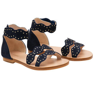 Juniors' [1-4] Scalloped Strap Sandal