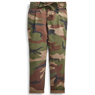 Junior Girls' [7-16] Belted Cotton Paperbag Pant