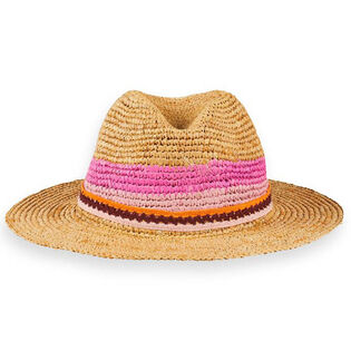 Junior Girls' [8-16] Colourblock Straw Hat
