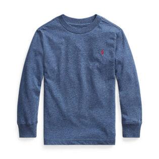 Chandail à manches longues en jersey de coton pour garçons [2-4]