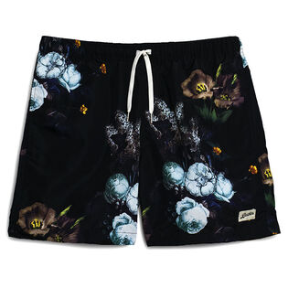 Men's Purple Bouquet Swim Trunk