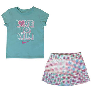 Girls' [2-4T] Skirt Two-Piece Set