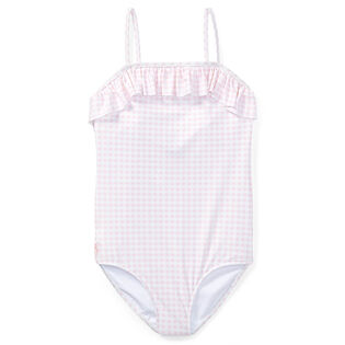 Junior Girls' [7-16] Gingham One-Piece Swimsuit