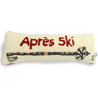 Apres Ski Pole Hooked Pillow