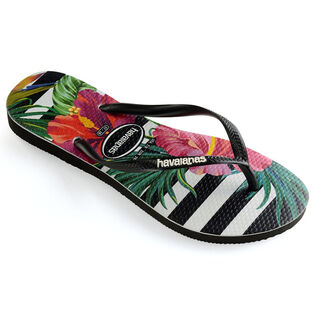 Juniors' [11-4] Slim Tropical Flip Flop Sandal