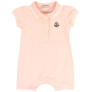 Baby Girls' [0-12M] Pique Knit Coverall