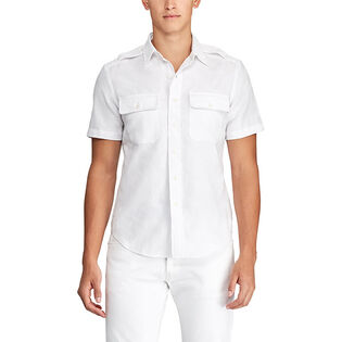 Men's Custom Fit White Camo Shirt