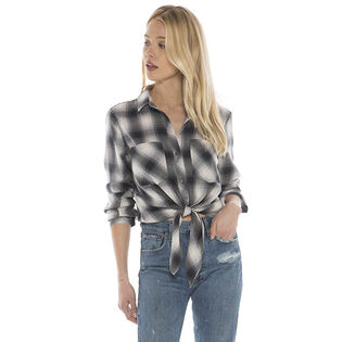 Women's Tie Front Button-Down Shirt