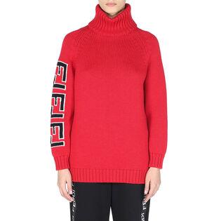 Women's Knit Logo Turtleneck Sweater