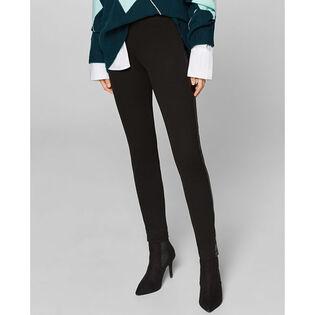 Women's Faux Leather Stripe Legging