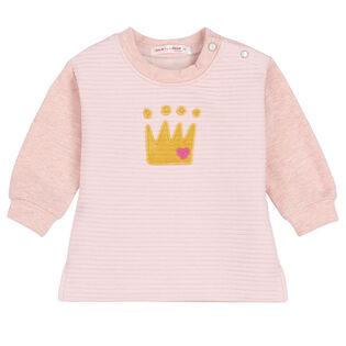Baby Girls' [6-24M] Quilted Pullover Sweatshirt