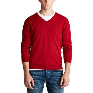 Chandail en laine mérinos avec col en V pour hommes