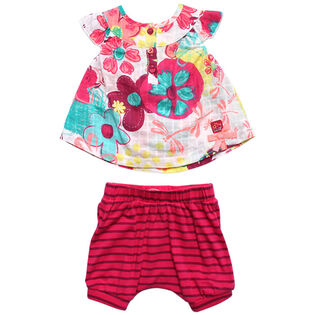 Baby Girls' [3-9M] Floral Top And Short Set