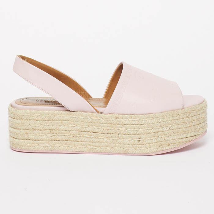 Sandales compensées en jute pour femmes