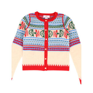 Girls' [2-8] Fair Isle Cardigan