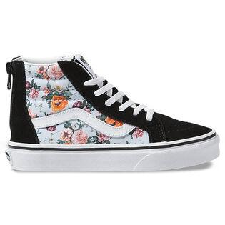 Kids' [11-4] Garden Floral Sk8-Hi Zip Shoe
