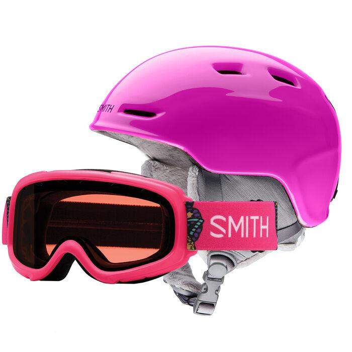 Ensemble de lunettes de ski Gambler + Casque Zoom pour juniors
