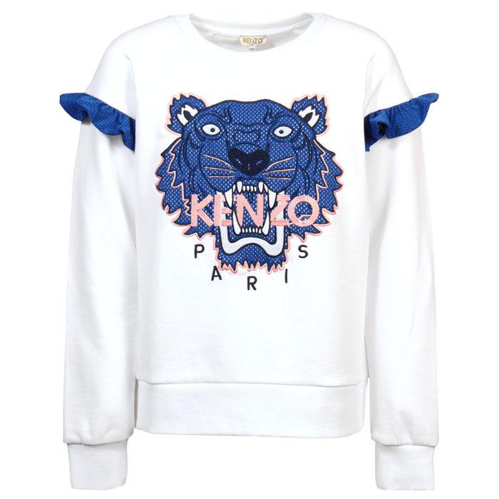 Junior Girls' [8-14] Racing Tiger Sweatshirt