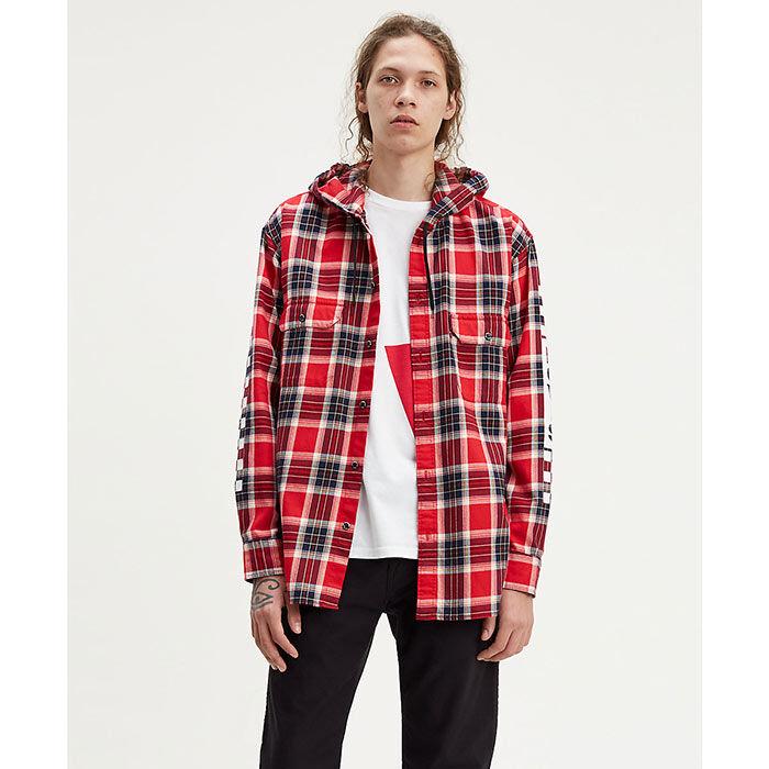 Chemise de travail à capuchon pour hommes