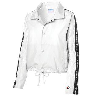 Women's Zipper Tape Cropped Coaches Jacket