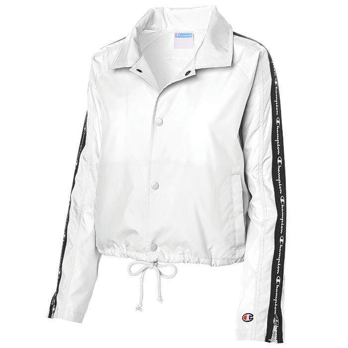 f9fe63b9c Women\'s Zipper Tape Cropped Coaches Jacket