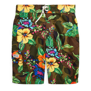 Junior Boys' [8-20] Kailua Floral-Camo Swim Trunk