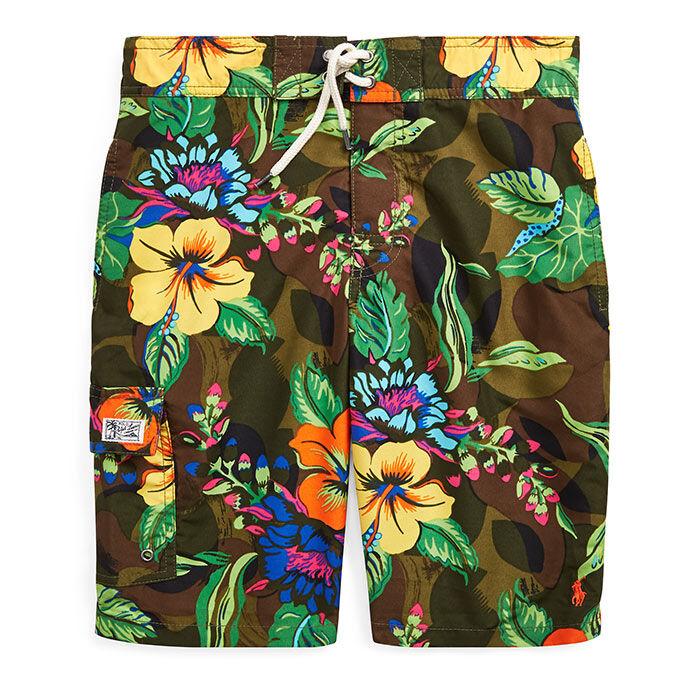 Junior Boys' [8-20] Kailua Floral-Camo Swim Trunk